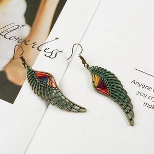 Colorful wing earrings